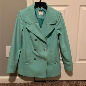 Teal Old Navy Peacoat